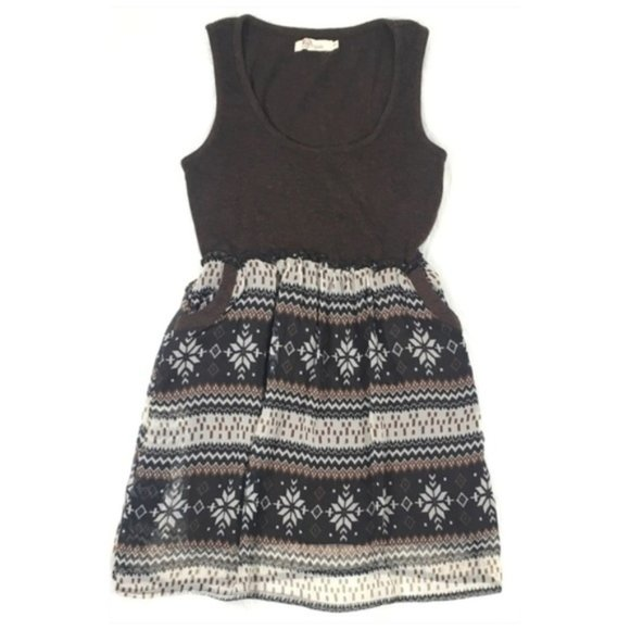 Aryeh Dresses & Skirts - Aryeh Sleeveless Brown Multicolor Dress